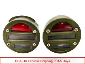 """Willys MB Ford GPW Jeep Truck Military Cat Eye Rear Tail Light 4"""" Set Of 2 Unit"""
