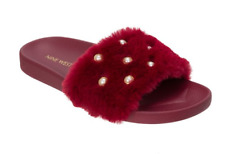 612ce2417d3 Nine West Womens Molded Caberet Sheslides Slippers Sz L