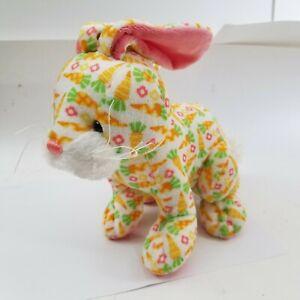 "GANZ Plush Carrots BUNNY Rabbit Multi color Stuffed Animal 11""Toy"