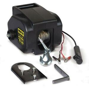 Trailer Winch Kit Utility 2000-lb. Marine Boat 12V Electric Heavy Duty Portable