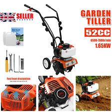 More details for garden tiller 52cc petrol engine lawn soil cultivator rotavator 2-stroke wheeled
