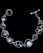 NEW Patricia Locke PENNY ARCADE Swarovski Crystal Bracelet Black/White ARTISAN