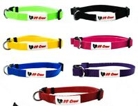 Dog Puppy Collar Adjustable Durable Smart Nylon Small Medium Large Many Colours