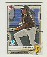 2021 Bowman FIRST 1ST EDITION #BFE-14 CJ ABRAMS RC Rookie San Diego Padres