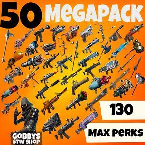 FORTNITE Save The World - 50 MEGAPACK - PL130 GODROLL GUNS/WEAPONS - PC PS4 XBOX