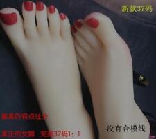 Us6 1pair Sexy Vivid Angel Beauty Mannequin Foot Shoes Socks Model Prop Sbox
