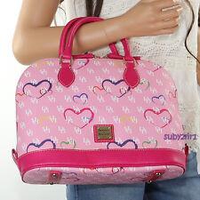 NWT Dooney & Bourke Sweetheart Zip Satchel Shoulder Bag HE343 Pink Hearts RARE