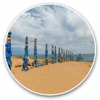 2 x Vinyl Stickers 7.5cm - Russian Lake Baikal Russia Cool Gift #3618