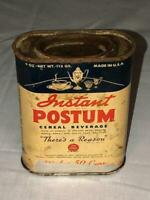 """Vintage Instant Postum """"There's a Reason"""" Cereal Beverage Tin"""