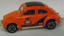 "Matchbox Orange '62 VW Beetle ""X Treme Mission"" with Trailer Hitch"