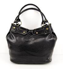 Axcess by Liz Claiborne Expandable Black Faux Leather Slouchy Shoulder Bag – EUC