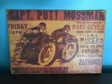 Vtg Wood Motorcycle Sign Harley Davidson Moto GP Man Cave KTM Victory Indian Old
