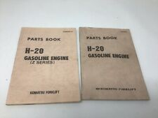 OEM Komatsu H-20 H20 Gas Engine & Z Series Parts Book Manual PGBH200-01 Lot Of 2