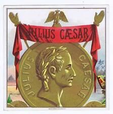 Julius Ceasar, original outer cigar box label, coin
