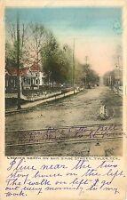 Texas, TX, Tyler, Looking N on Bois D'Arc Street Early Albertype Co  Postcard
