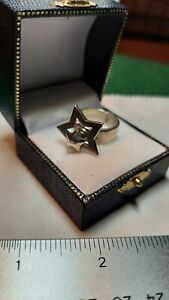 Rare Heavy Taxco 925 Sterling Silver Articulated Spinning Motion Star Ring