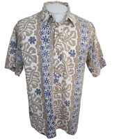 Kahala Men Hawaiian pullover shirt p2p  25.5 XL floral reverse print vtg aloha