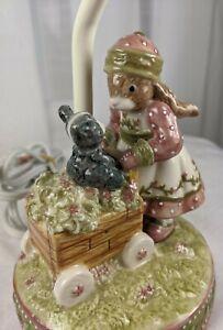 Fitz Floyd Demdaco Woodsong Kids Bunny Rabbit Lamp Child's Nursery Nightlight