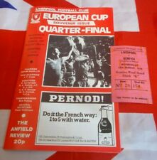 Liverpool v Benfica European Cup Quater Final + Ticket 1978