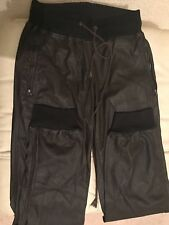BLACK LEATHER Women PANTS - SOFT QUALITY LEATHER - Size 8 , brown color