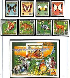 NIGER BOY SCOUTS SCOTT #883-86 & 887-91 STAMP SET & SOUVENIR SHEET MNH 1996