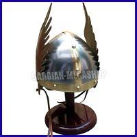 Wikinger Flügel Helm Gallier Mittelalter Normanne Helm Rüstung Ritterhelm
