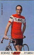 CYCLISME carte cycliste SERGE BOLLEY équipe BIC