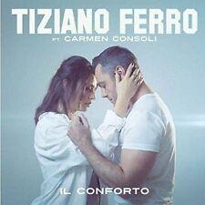 """TIZIANO FERRO - IL CONFORTO - 7"""" SEALED VINYL 2017 COPY # 0342 CARMEN CONSOLI"""
