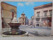Vecchia cartolina foto d epoca di ANDRIA BARLETTA PIAZZA PORTA LA BARRA FONTANA
