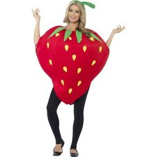 Strawberry Costume - Adult Funny Fruit Fancy Dress Food Party Outfit New
