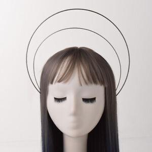 Women Headwear Hair Band Headbands Headpiece For Halo Crown DIY Three Layers