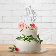 Tortendekoration 'Mr & Mrs' - silber Hochzeit Vintage Tortenaufsatz Cake Topper
