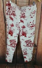 Jessica Howard Nordstrom Womens Red Missy Capris Size 16