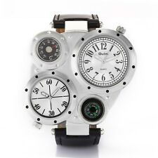 OULM Cool Military Army Dual Time Zones Movements WristWatch Sports Men Boy Gift