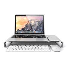 Nouvelle alliage d'aluminium bureau monitor riser support pour pc portable imac macbook