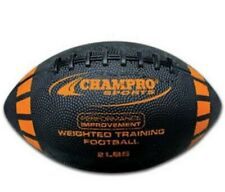 Champro Weighted Training Football Intermediate Size 2 lbs. Rubber Black Fbw2I