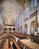 Postcard Inside the Riverside Church New York City NY