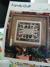 """Counted Cross Stitch by The Victoria Sampler """"Family Quilt""""  new"""