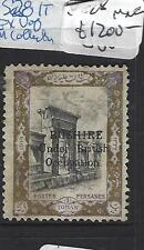 British Bushire (Pp1808B) Sg 28 Ex U Of M Collection Mng Very Rare