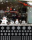 114x REUSABLE WHITE CHRISTMAS SNOWFLAKES WINDOW STICKERS SELF CLINGS Decor UK