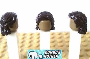 Lego Minifigure Hair Dark Brown Wavy Sidelocks Center Part Sirius Harry Potter