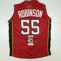 Autographed/Signed DUNCAN ROBINSON Miami Red Basketball Jersey JSA COA Auto