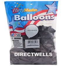 Pioneer Made In USA 72 Standard Pitch Black Latex Balloons 11""
