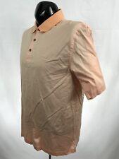 Jos. A. Bank Leadbetter Golf mens shirt casual polo cotton orange s/s size L