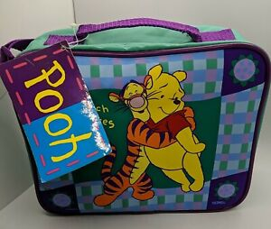 NWT Vintage Thermos Winnie the Pooh Purple Lunch Box with Zipper