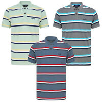 Tokyo Laundry Men's Polo Shirt Striped Cotton Pique T-Shirt Top Tee Stripy Smart