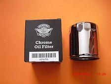 New Genuine Harley Davidson Chrome Oil Filter Sportster XL MADE IN USA