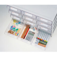 System 12 Drawers Plastic Tools, Medical, Living Box Multipurpose 57003