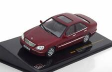 MERCEDES S500 W220 2000 DARK RED METAL IXO MOC106 1/43 BENZ ROUGE ROT ROSSO