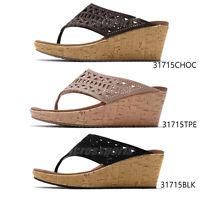 Skechers Beverlee-Summer Visit Womens Cali Wedge Thong Sandals Pick 1